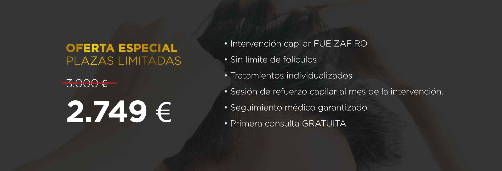 Élite Medical Madrid Oferta Implante capilar FUE Zafiro