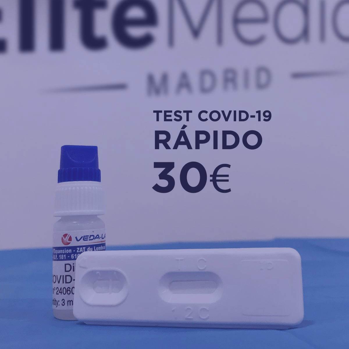 Test rápido Análisis Covid-19 en Élite Medical Madrid